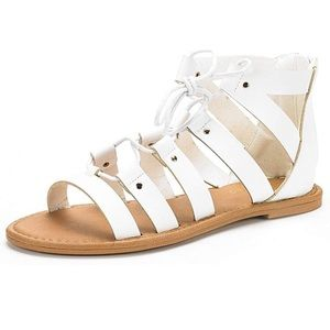 Shoes - White ankle gladiator sandals